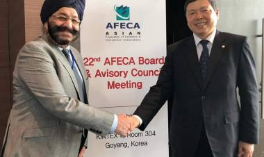 Mr. Ravinder Sethi, MD, RE Rogers Re-elected as the 2nd Vice President of Asian Federation of Exhibitions & Conventions Associations (AFECA)