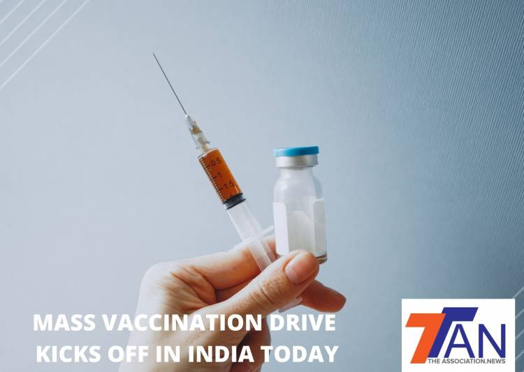 INDIA LAUNCHES MASS VACCINATION PROGRAM TODAY - 300000 VACCINATIONS ON INAUGURAL DAY